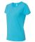 3516 LA T Ladies Longer Length T-Shirt AQUA