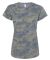 3516 LA T Ladies Longer Length T-Shirt VINTAGE CAMO