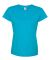 3516 LA T Ladies Longer Length T-Shirt VINTAGE TURQ