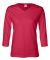 3577 LA T Ladies' V-Neck 3/4-Sleeve T-Shirt RED