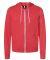 BELLA+CANVAS 3739 Unisex Poly-Cotton Fleece Hoodie HEATHER RED