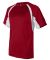 4144 Badger Adult B-Core Short-Sleeve Two-Tone Hoo Red/ White