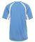 4144 Badger Adult B-Core Short-Sleeve Two-Tone Hoo Columbia Blue/ White