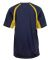 4144 Badger Adult B-Core Short-Sleeve Two-Tone Hoo Navy/ Gold