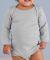 4411 Rabbit Skins Infant Baby Rib Long-Sleeve Cree TITANIUM