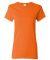 5000L Gildan Missy Fit Heavy Cotton T-Shirt S ORANGE
