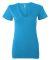 BELLA 6035 Womens Deep V-Neck T-shirt NEON BLUE