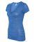 BELLA 6035 Womens Deep V-Neck T-shirt TRUE ROYAL MRBLE