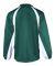 7702 Badger Adult Brushed Tricot Hook Jacket Forest/ White