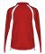 7902 Badger Ladies' Hook Brushed Tricot Polyester  Red/ White