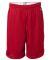 8731 Champion Logo Adult Mesh Shorts Scarlet