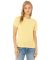 BELLA 6400 Womens Relaxed Jersey Tee PALE YLW TRBLND