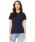 BELLA 6400 Womens Relaxed Jersey Tee SOLID NVY TRBLND