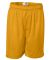 7207 Badger Adult Mesh/Tricot 7-Inch Shorts Gold
