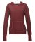 J8912 J-America Ladies' Vintage Zen Hooded Fleece Twisted Bordeaux