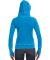 J8912 J-America Ladies' Vintage Zen Hooded Fleece Oceanberry