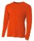 N3165 A4 Adult Cooling Performance Long Sleeve Cre ATHLETIC ORANGE