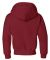 996Y JERZEES® NuBlend™ Youth Hooded Pullover Sw Crimson