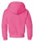 996Y JERZEES® NuBlend™ Youth Hooded Pullover Sw Neon Pink