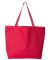 8503 Liberty Bags 12 Ounce Cotton Canvas Tote Bag RED