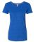 W1101 All Sport Ladies' Fitted Triblend T-Shirt Royal Heather Triblend