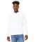 BELLA+CANVAS 3719 Unisex Cotton/Polyester Pullover DTG WHITE