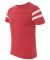 Alternative Apparel 12150 Eco Vintage Football T-S EC TR RD/ EC IVR