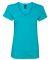 88VL Anvil - Missy Fit Ringspun V-Neck T-Shirt CARIBBEAN BLUE