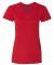 88VL Anvil - Missy Fit Ringspun V-Neck T-Shirt RED