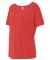 BELLA 8816 Womens Loose T-Shirt RED TRIBLEND