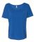 BELLA 8816 Womens Loose T-Shirt TRUE ROYAL TRBD