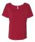 BELLA 8816 Womens Loose T-Shirt RED SPECKLED