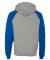 96CR JERZEES - Nublend® Colorblocked Hooded Pullo Oxford/ Royal