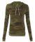 Alternative Apparel 01928E1 Ladies Hooded T-shirt CAMO