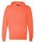 8620 J. America - Cloud Fleece Hooded Pullover Swe Neon Orange