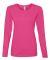 884L Anvil Missy Fit Ringspun Long Sleeve T-Shirt Hot Pink