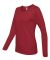 884L Anvil Missy Fit Ringspun Long Sleeve T-Shirt Independence Red