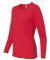 884L Anvil Missy Fit Ringspun Long Sleeve T-Shirt Red