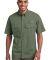 EB608 Eddie Bauer® - Short Sleeve Fishing Shirt Seagrass Green