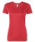 W1009 All Sport Ladies' Performance Short-Sleeve T Heather Red