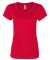 W1009 All Sport Ladies' Performance Short-Sleeve T SPORT RED