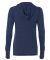 W3101 All Sport Ladies Triblend Thumbhole Hooded T Navy Heather Triblend