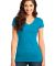 DT6501 District® - Juniors Very Important Tee® V Lt Turquoise