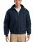 TLJ763H CornerStone® Tall Duck Cloth Hooded Work  Navy