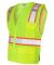1163-1164 ML Kishigo - Solid Front Vest with Mesh  Lime