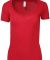 HC1125 Cotton Heritage Womens V-Neck Tee Red