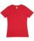 HC1125 Cotton Heritage Womens V-Neck Tee Cardinal