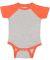 4430 Rabbit Skins Fine Jersey Infant Baseball Raglan Bodysuit VN HTH/ VIN ORNG