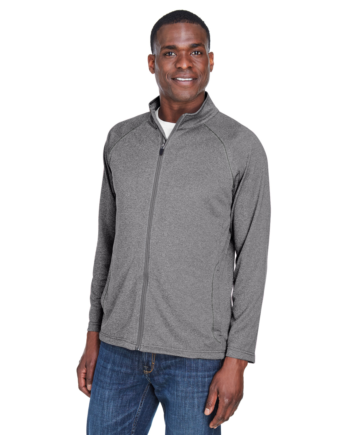 4XL DG420 Devon /& Jones Mens Stretch Tech-Shell Compass Full-Zip - Dark Grey Heather